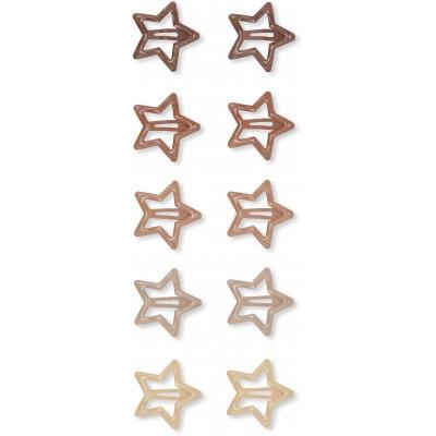 10-PACK JUNIOR HAIRCLIP STAR