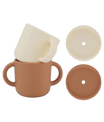 Cups with lids  2pcs
