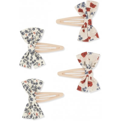 4 PACK HAIR CLIPS BOW