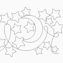 Baby Star and Moon Pano