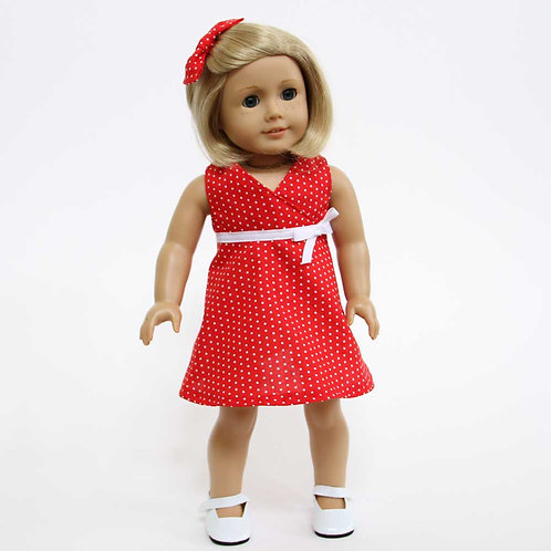 "Sweet & Sunny 18"" Doll Dress Pattern"