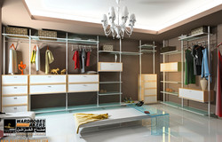 Aluminum-Framed-Free-Standing-Shelving-Drawers-and-Cabinetry-Ideas-Design-for-Bedroom-Open-Closet-Id