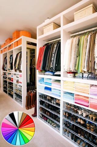 تنسيق الوان خزانة الملابس