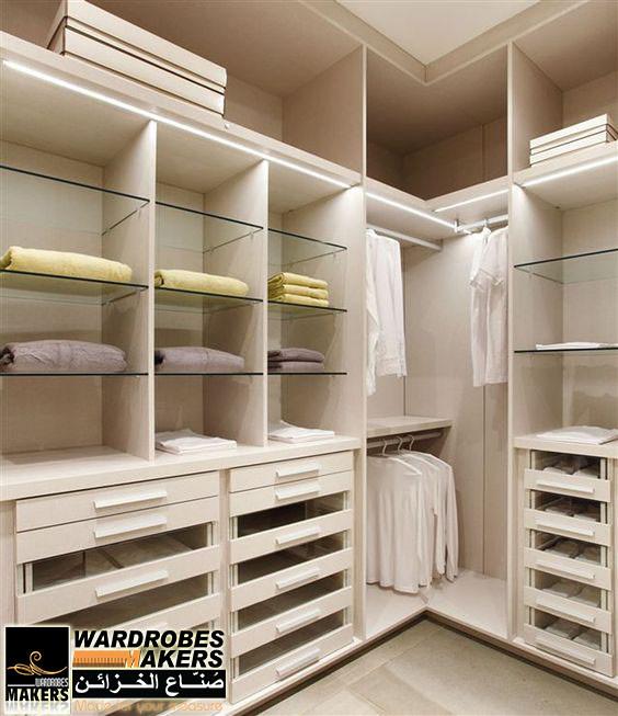خزانة ملابس حرف U