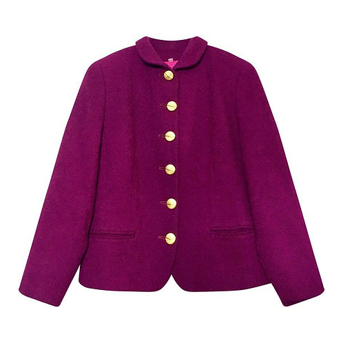 Veste en laine à boutons croisés dorés