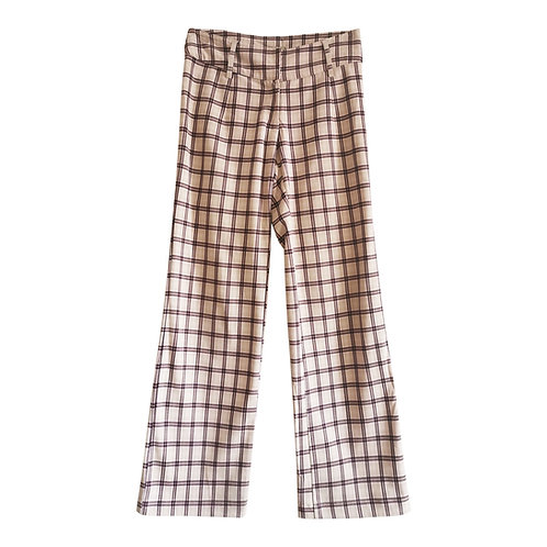 Pantalon flare à carreaux Taille 38