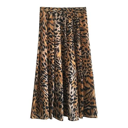 Jupe plissée léopard Taille 38