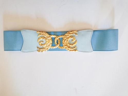 Ceinture élastique bleue pastel