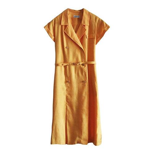 Robe en lin moutarde taille 42-44