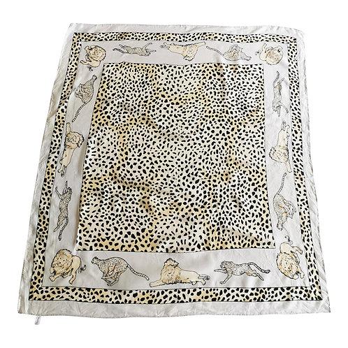 Foulard panthère en soie