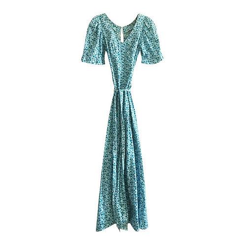 Robe longue à fleurs 70s, Taille 36-38