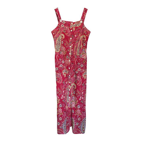 Robe framboise imprimé Paysley Taille 38