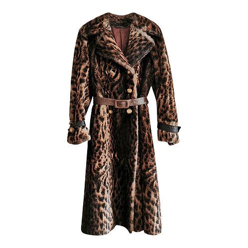 Manteau en fausse fourrure imprimé Taille 38 léopard