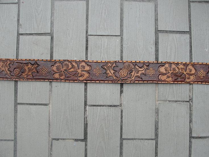 Kilt Belt 3: Fully Hand-Tooled, no buckle, no lining