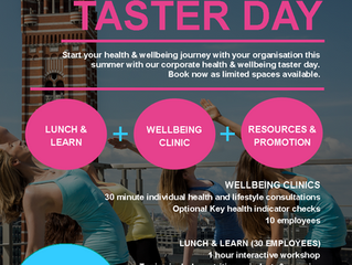 Health & Wellbeing Taster Days £650 +VAT