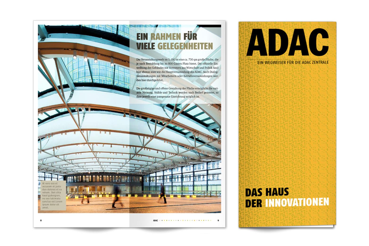Layout Architekturbroschüre für ADAC