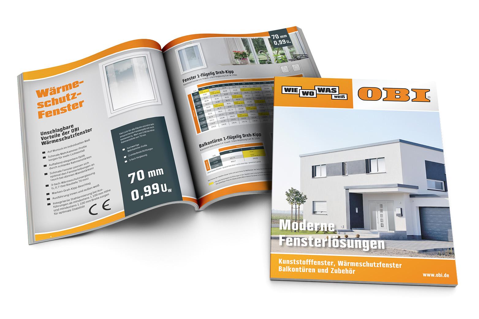 Kataloggestaltung für InContact/OBI