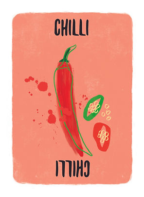 Recipe for Disaster Game Chilli Card.   10 amazing things to make with chilli peppers: Pickle them, Dry them, make Chilli Powder, Screaming Hot Sauce, Chilli Jam on toast, Salsa (green, yellow or red), Fresh Guacamole, Chilli Poppers, Chilli Olive Oil and of course Chilli Con Carne.