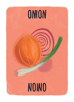 Recipe for Disaster Game Onion Card.   No, we are not talking about the number one spoof news source, The Onion. we are talking about the bulb fruit from the allium family. But pair it with some amazing fresh sea food and create amazing Ceviche top it off with a glass of white wine-nice!
