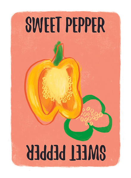 Recipe for Disaster Game Sweet Pepper Card.   Whether lavishedonto fajitas, drenched in sweet and sour sauce for kung pow chicken, or used to garnish your favourite Huevos Rancheros,sweet peppers are among the most popular members of the nightshade family.