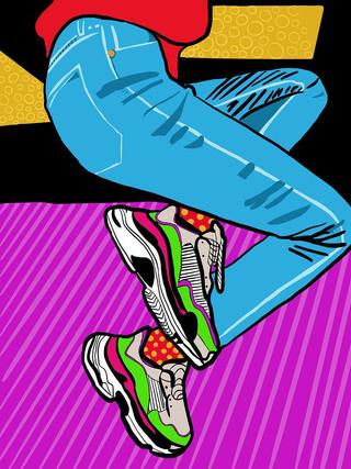 Sneakers fris.
