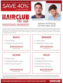 Hair Club for Kids Promotional Flyer for Men