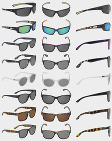 Sunglasses, 3 views