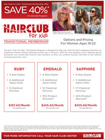 Hair Club for Kids Promotional Flyer for Women