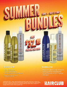Hair Club Styling Products Promotional Flyer