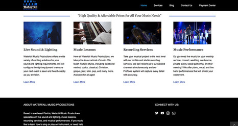 Waterfallmusicproductions.com Home Page