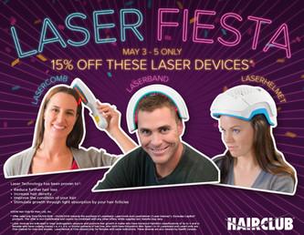 Hair Club Laser Fiesta Promotional Mirror Cling