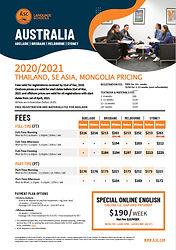 ILSC_GC_AUS_Pricelist_Thailand, SEAsia,