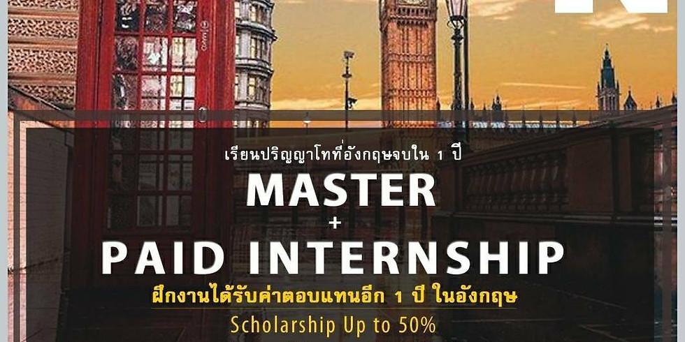 •University of Northampton – International Scholarship & Thai Student Ambassador Scholarship