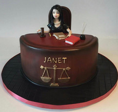 Court in Session Cake