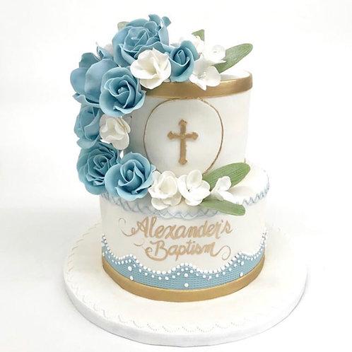 Baptism Cake 2 Tiers
