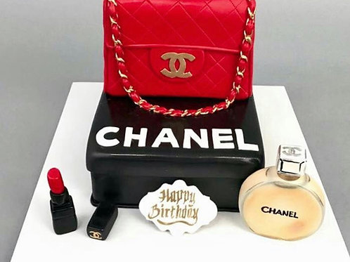 Chanel Cake with essentials