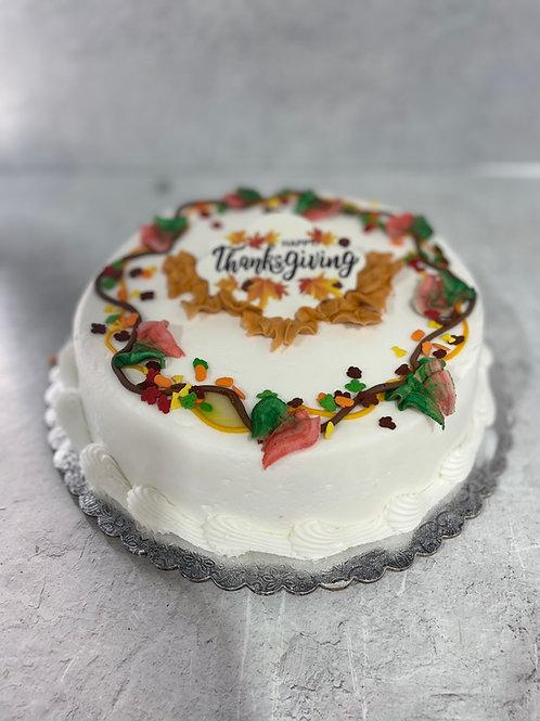 Lucila's Famous Rum Vanilla Rum Cake Thanksgiving Theme
