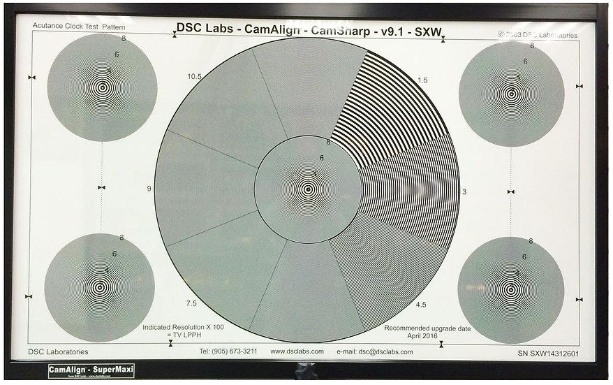 DSC Labs CamSharp Super Maxi 解析度測試圖卡