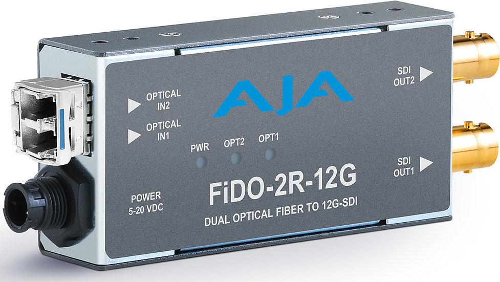 FiDO-2R-12G 雙路單模光纖轉12G-SDI接收器
