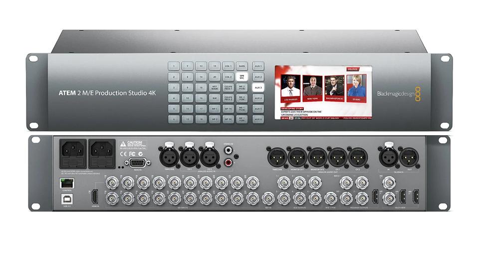 ATEM 2 M/E Production Studio 4K 現場製作導播機