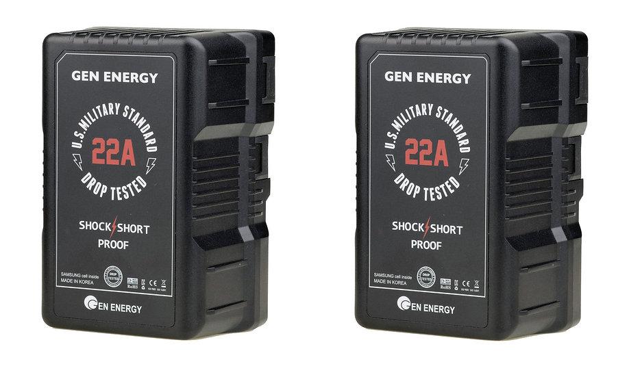 【免發電機】買2顆290Wh 22A V-Mount軍規電池送價值2萬9千元的行動電源座