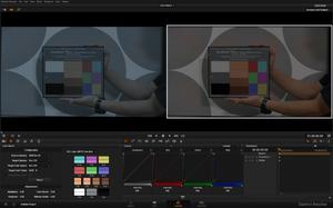 3.比較一下使用One Shot 攜帶型色彩校正圖卡自動校正的前後結果。