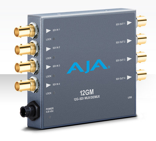 AJA 12GM 12G-SDI 雙向多路復用器