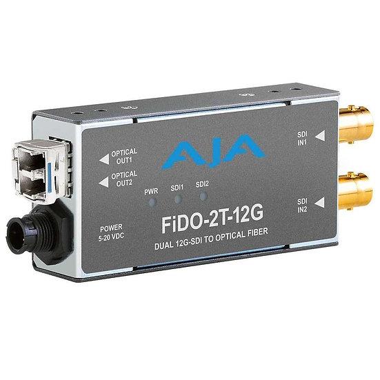 FiDO-2T-12G 雙路 12G-SDI 轉LC單模光纖發送器