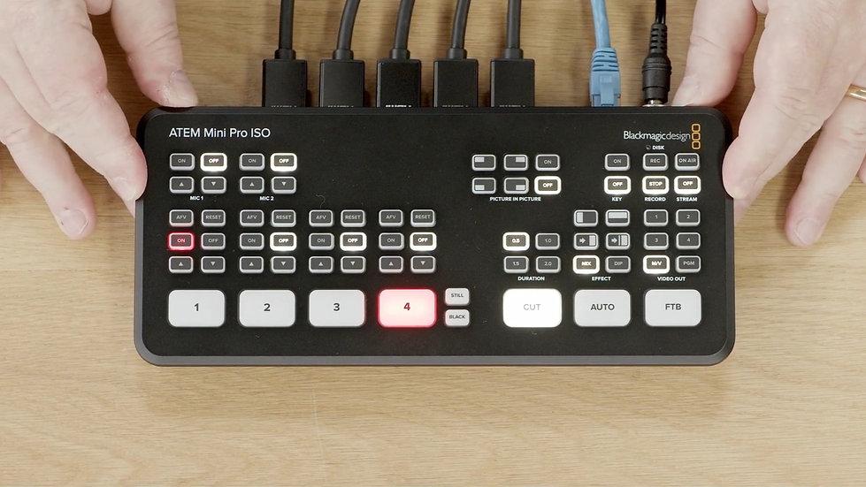 ATEM Mini Pro ISO 導播機
