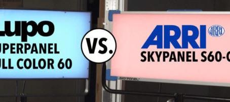 ARRI Skypanel S60-C 與 Lupo Superpanel Full Color 60 的比較