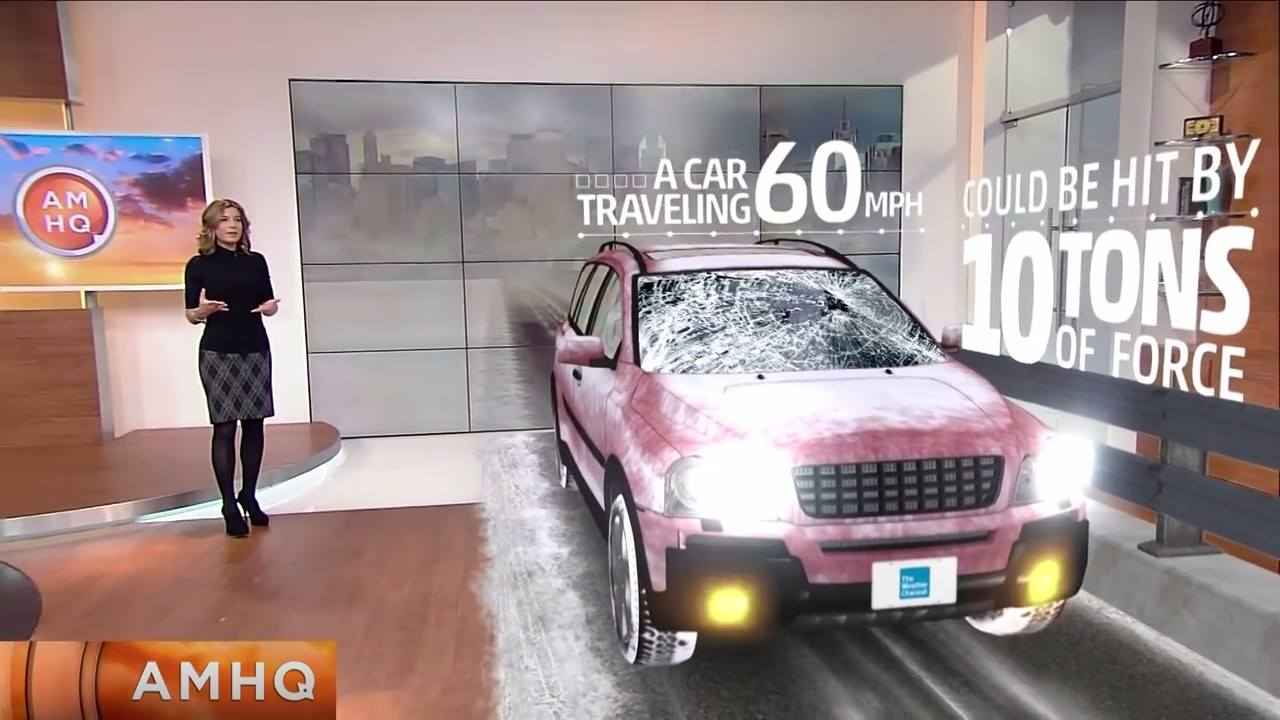 電視攝影棚AR即時合成技術展示