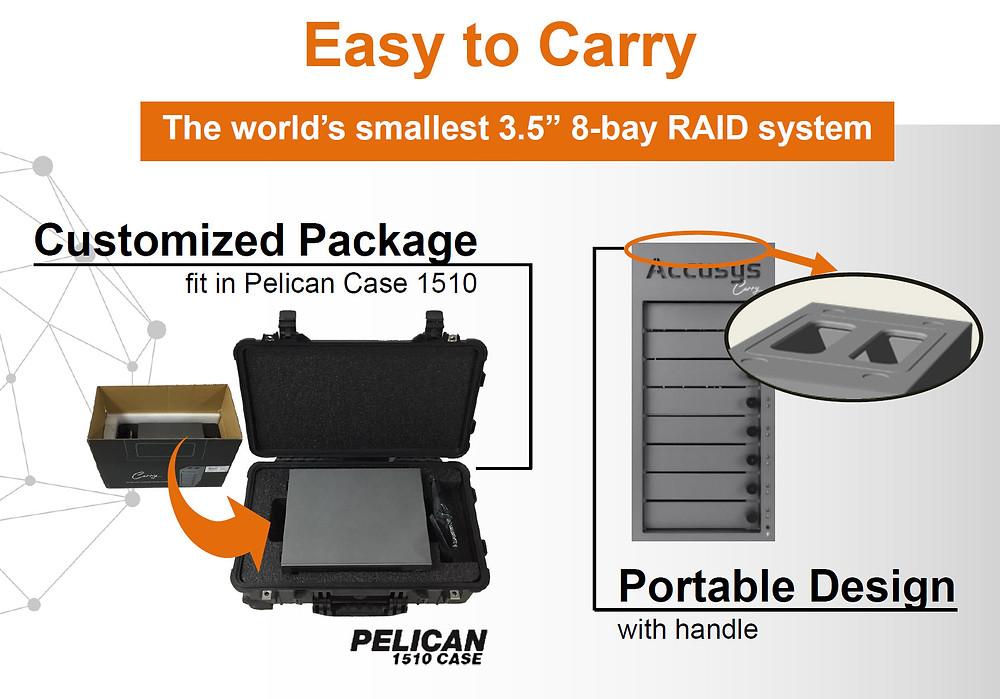 Carry系列原廠包材與Pelican 1510航空箱相容,輕鬆放置無需另購訂製包材,同時符合大多數航空公司手提行李規定,亦可將其托運。