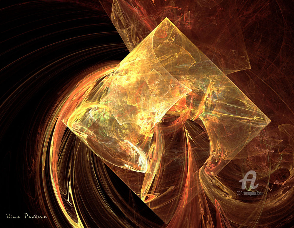 Arte fractal, visión del Ein Sof por Nina Pacôme