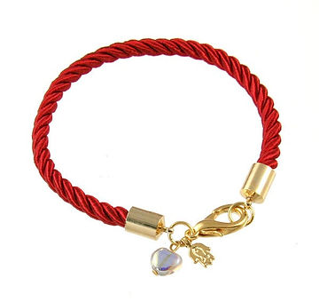 Gold-Plated-and-Red-Rope-Bracelet-with-C